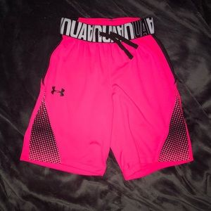 Bright Pink Under Armour Shorts